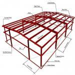 ASTM Warehouse Steel Structure / Prefab Steel Workshop With Free Design