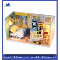 China DIY Wooden Dollhouse Miniature Doll House Furniture Handmade 3D Miniature Puzzle C003 on sale