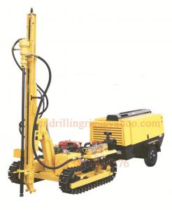 China Small Crawler Mobile Drilling Rigs with Hydraulic Drilling Methold 3.66m Feed Stroke on sale