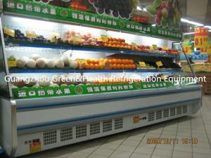 China Vegetable / Milk Upright Multideck Open Chiller 2 Degree With Low Front on sale
