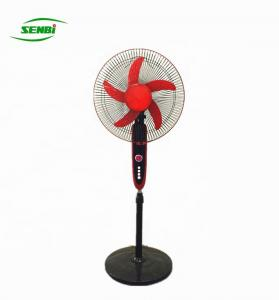 China Air Cooling 12 Volt Rechargeable Fan , 16 Inch Battery Operated Standing Fan on sale