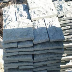 China China Granite Mushroom Wall Cladding Dark Grey G654 Granite Mushroom Stone on sale