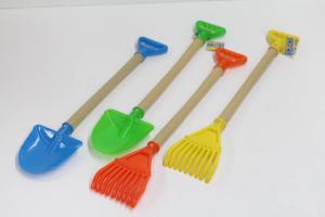 China Mini Sand Plastic Beach Shovels Rakes , Beautiful Childrens Plastic Toys on sale