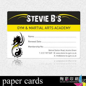 China Embossing Coated Paper Membership Cards Printing / Art Card 300gsm on sale