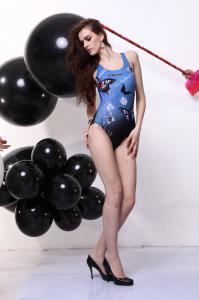 M Size Fashion Style Black Female Women S Swimming Costume Suit