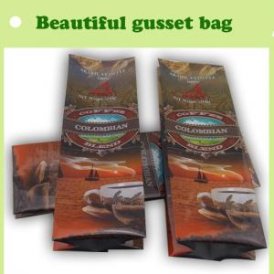 China Freshness protection Coffee gusset plastic bag, bag for coffee on sale
