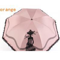 China Two layer 3 fold automatic umbrella with art printed folding rain and sun on sale