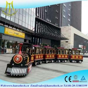 China Hansel best selling children electric train trackless train electric amusement kids train for sale supplier on sale