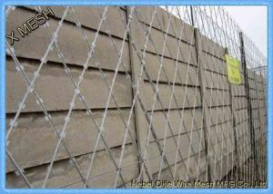 China Galvanized Razor Barbed Wire Fence / Security Barbed Wire Mesh SGS Listed on sale