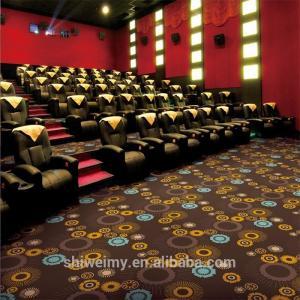 China Cheap dark brown polypropylene printed carpet for cinema on sale