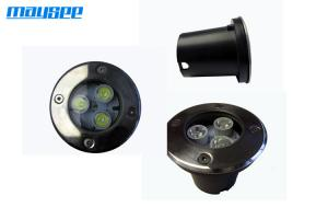 China High Power Round LED Inground Pool Lights 3x1w with Stainless Steel Top Cover on sale