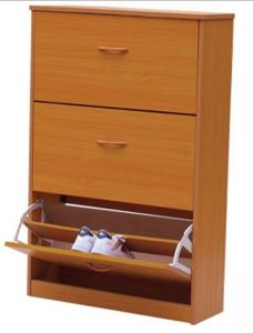 China Magic Wood Shoe Rack Cabinet With Three Drawers , Makeup Vanity Box DX-80A on sale