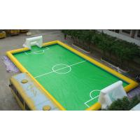 11 Person PVC Inflatable Football Field , Football Game Inflatable Field for Outdoor Sport