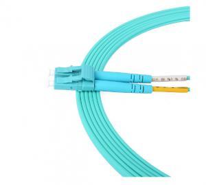 China Multi - Mode Duplex Optical Fiber Patch Cord OM3 LSZH Material Jacket on sale