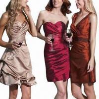 2012 Satin Sweetheart Short Bridesmaid Dresses
