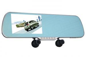 China Three Cameras Car Digital Video Recorder Blue , Mirror Rear View 1080P Car Camcorder on sale