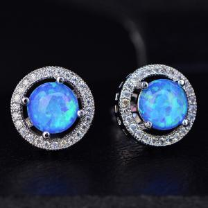 China Factory direct price top design jewelry colorful fancy stud synthetic opal earring on sale