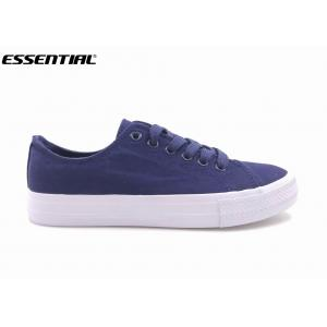 Vulcanized Breathable Casual Canvas Sneakers / Canvas Tennis Shoes Womens