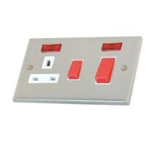China uk 13A 2 Gang Switched Socket on sale