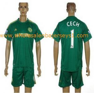 China Chelsea #1 Cech Goalkeeper 2012/2013 Light Green Soccer Club Jersey on sale