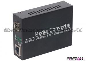 China RJ45 LAN Port Fiber Media Converter Gigabit Ethernet With One SFP Slot on sale