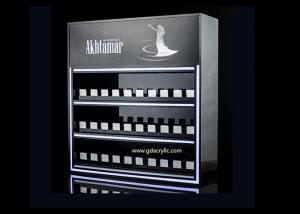 China Custom Three Layers Cigarette Display Cabinet With Gliding Dispenser In Shop on sale
