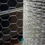 Silver Color Wire Mesh Fence Rolls Hexagonal Hole Shape For Stone Cage