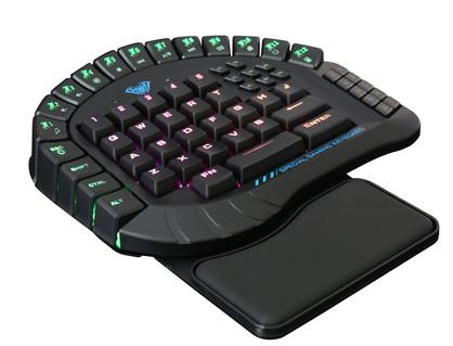60 keys professional wired gaming keyboard aula si 881 wired single hand for sale wired gaming. Black Bedroom Furniture Sets. Home Design Ideas