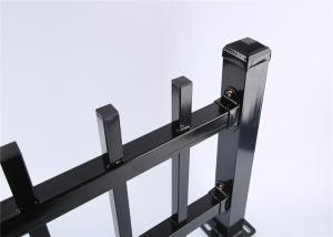 China Diplomat Fencing Panels 45mm rail thickness 1.60mm powder coated black on sale