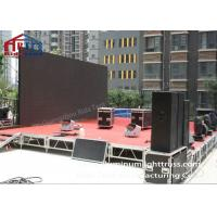 Trade Show Folding Mobile Stages Heavy Load Capacity Hand Rail Optional