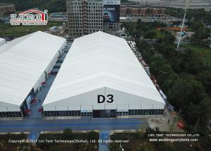 China 50m Clear Span Outdoor Exhibition Tents With Glass Wall Sidewalls on sale