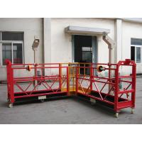 Customized 90 degree Red Suspended Working Platform for the Chimney Wall Painting