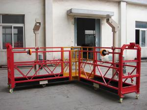 China Customized 90 degree Red Suspended Working Platform for the Chimney Wall Painting on sale