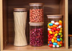 China High Borosilicate Glass Cereal Storage Containers Airtight Food Storage With Cork on sale