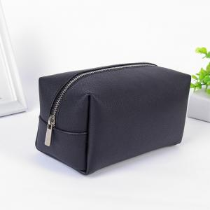China Design High Quality Pure Color PU Leather Cosmetic Toiletry Travel Bag on sale