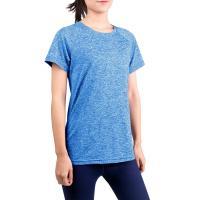Poly Spandex Sport Shirts For Women 180 - 210 Gsm Customized Logo Antibiosis