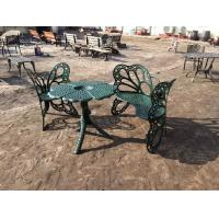 Outside Wrought Iron Table And Chairs Antique Green Butterfly Style
