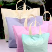 China Colorful Custom Plastic Shopping Bags , Reusable Grocery Bags With Handles on sale