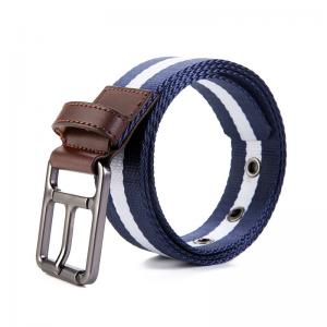 China Newest Black Needlepoint Buckle White Navy Mens Outdoor Canvas Military Tactical belt on sale