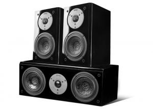 China Black Piano Paint Panel Surround Sound System , 100W 8 Ohm For 5.1 Home Movie Speakers on sale