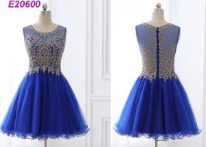 China Beautiful A Line Blue Cocktail Dresses , Special Occasion Formal Cocktail Dresses on sale