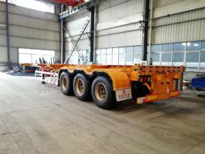 China china factory cheapest 40 ft skeleton semi trailer for sale, best price CLW skeleton container semitraielr for sale on sale