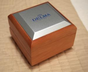 China Delma Swiss Made Watch Box Wooden with Literature on sale
