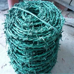 China Barbed Wire/PVC Coated Barbed Wire/PVC Barbed Wire Fencing/low price soft zinc coated twisted barbed wire on sale