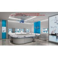 Women Ornament and Jewellry Display Interior with Wooden Counters and Tempered Glass Showcase in Light color Design