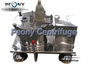 Quality Plate Bottom Discharge Pharmaceutical Centrifuge / Filtering Equipment For Solid Grains for sale