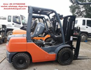 China 4520 Kg Used Diesel Forklift Truck , Japan Toyota 3 Ton Diesel Forklift on sale