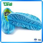 Blue 60gsm Waterproof Anti Skid Disposable Shoe Covers