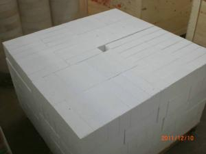 Quality Lining Corundum Refractory Brick / Block Thermal Insulation High Bulk Density for sale