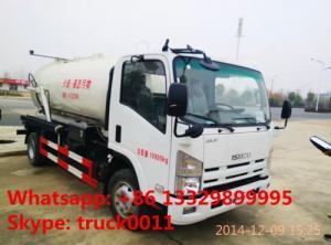 China ISUZU vacuum truck for sale, ISUZU sewage suction truck for sale, sludge tank truck on sale